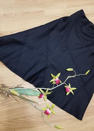 Косая юбка черного цвета jasper  conran из льна