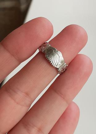 Винтажное серебряное кольцо-дружба silver