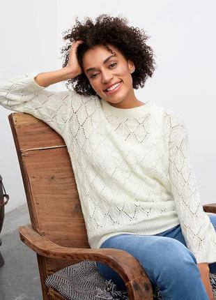 Свободный ажурный свитер kaffe