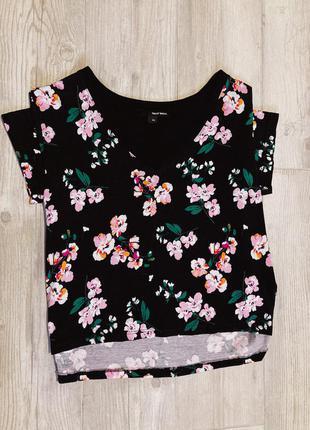 Скидки на летнюю одежду!футболка-топ в цветочный принт tаlly weijl