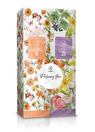Жіноча парфумована вода lambre no 6,21/женские духи ламбре 6,21/акция 2 аромата по цене 1