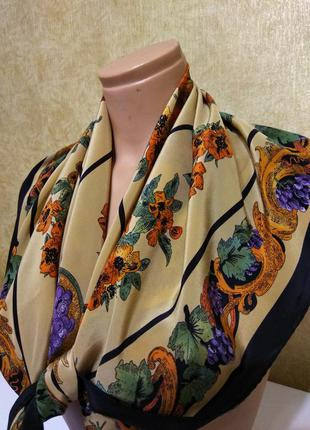 Красивый шелковый платок, 100 % натуральный шелк, платок из натурального шелка, шев рауль