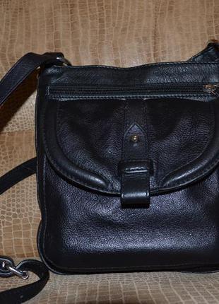 Кожаная сумка-кроссбоди clarks (оригинал англия).
