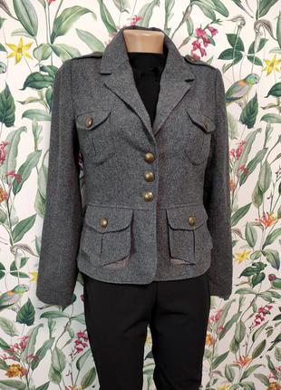 Женский теплый пиджак шерстяной модный стильный теплый жаке