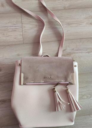 Рюкзак пудрового кольору