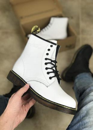 Зимние ботинки dr.martens white(мех)39-40