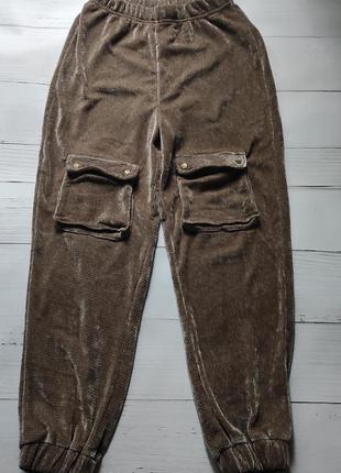 Мягкие плюшевые штаны джоггеры
