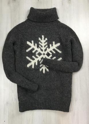F7 шерстяной гольф вязанный свитер кофта пуловер джемпер gap зелёный  толстовка худи кофта свитер