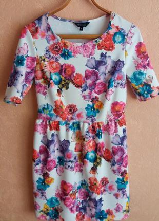 1+1=3 платье с цветочным принтом