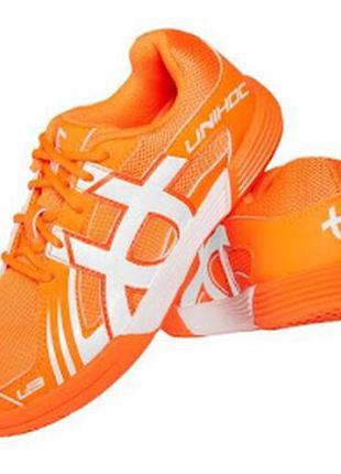 Blindsave floorball кроссовки unihoc u3 unisex jr orange/white