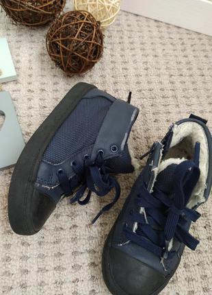 Утепленные натуральные кеды ботинки clarks