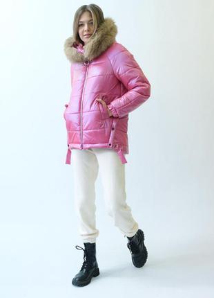 Зимняя куртка с натуральним мехом