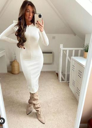 Сукня, платье в рубчик zara xs - s
