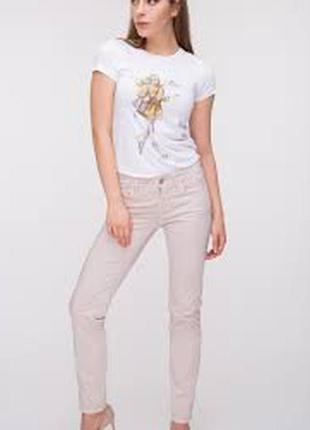 Светлые штаны джинсы стрейч-коттон