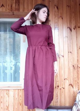Длинное женское осеннее платье