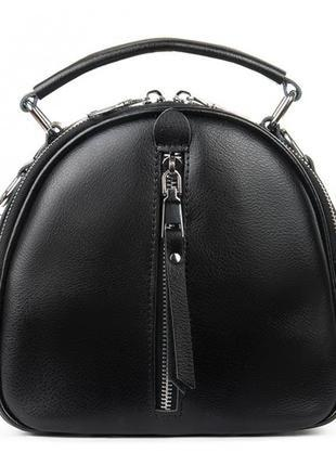 Молодежная женская кожаная сумочка-рюкзак