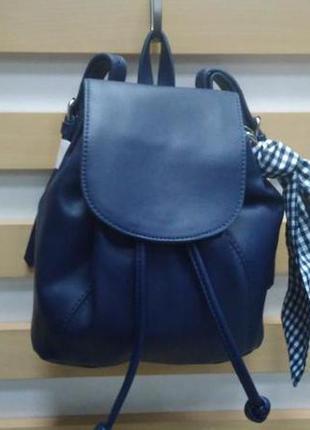 Сумка, женская, рюкзачок, маленький, темно-синий, c&a, 21044