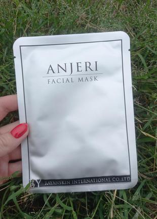 Тайская тканевая маска для лица мгновенного действия anjeri silver