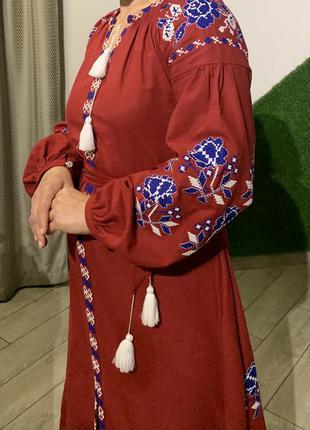 Наиуральна вишита сукня
