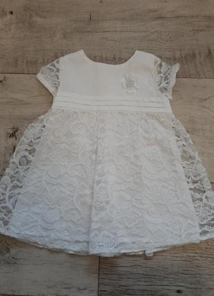 Платье  3-6 м.