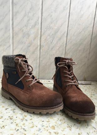 Зимние ботинки натуральная замша германия