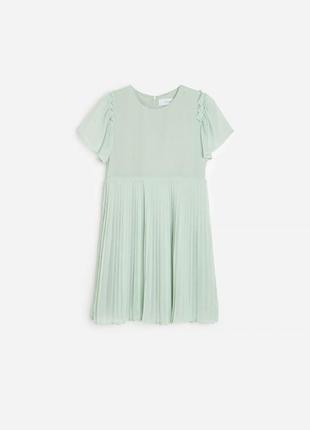 Фирменное нарядное платье с прессированной юбкой reserved