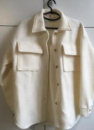 Женская куртка жакет рубашка кашемир твидовый пиджак white белый, оливка