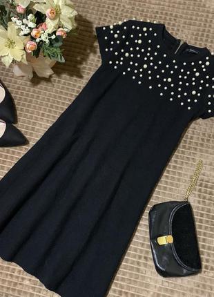 Стильна сукня з бусінками zara