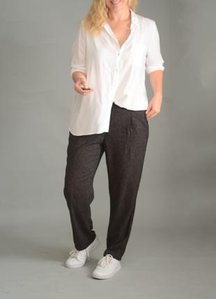 5378\56 белая рубашка из вискозы papaya xxxxl