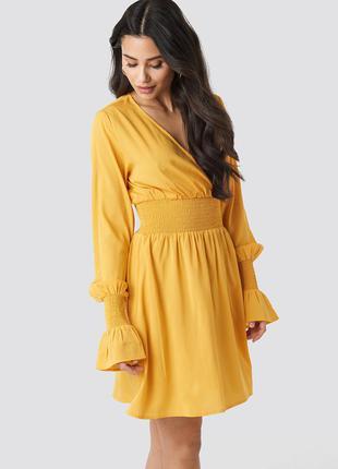 Новое оранжевое платье na-kd
