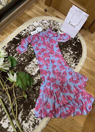 Платье в цветочный принт zara na - kd
