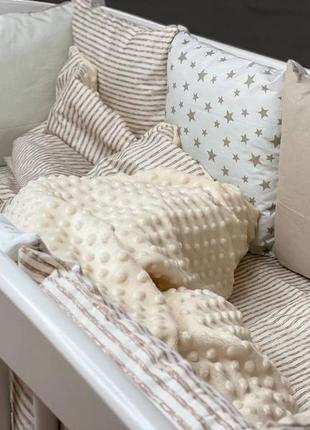 Бортики в ліжечко,дитяча білизна