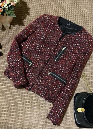 Стильний твідовий піджак жакет zara