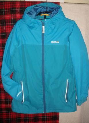 Непромокаемая непродуваемая легкая куртка ветровка на 11-12 лет