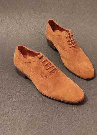 Мужские кожание туфли оригинал minelli 40 розмір