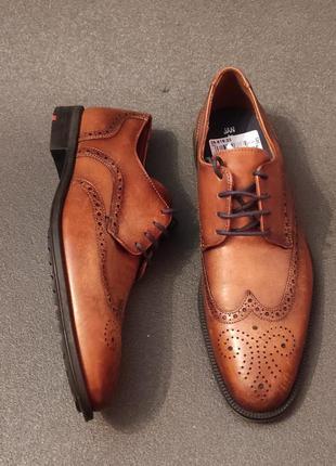 Мужские кожание туфли оригинал jan 42 розмір