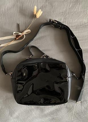 🏷 сумка на широком ремне эко кожа + лак