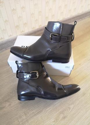 Шкіряні черевики португалія, кожаные ботинки, лаковые ботинки, кожаные туфли