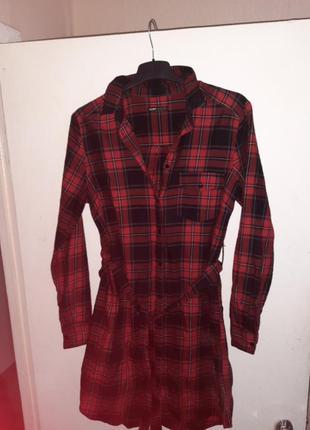Платье рубашка с поясом cropp