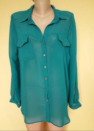 Красивая изумрудная рубашка,блузка
