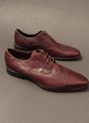 Мужские кожание туфли оригинал minelli 42 розмір