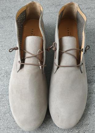 Кожаные фирменные женские ботинки от varese - 40 р