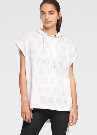Актуальная футболка туника топ dkny размер s-m хлопок