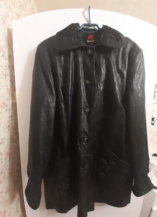 Скидка до 30.09 !!курточка новая кожаная натуральная большой размер