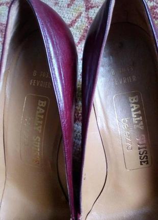 Bally туфли винтаж,цвет спелой вишни,номерные,оригинал.