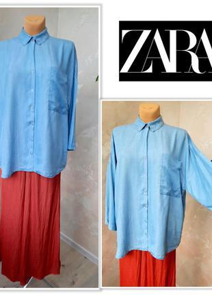 Zara джинсовая рубашка - оверсайз