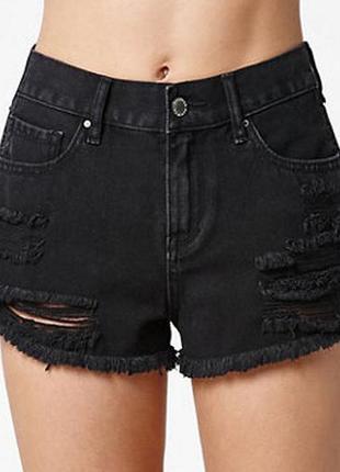 Шорты джинсовые чёрные женские
