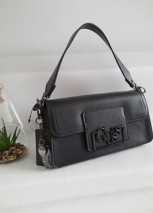 Guess lexy baguette чорного кольору,  сумка, клатч, crossbody