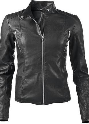 Стильная брендовая кожаная куртка