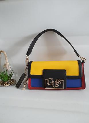 Guess lexy baguette кольорова сумка, клатч,  crossbody
